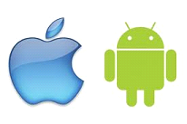 Logo of apple and android